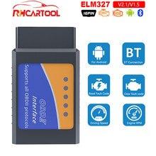 Mini elm327 bluetooth obd2 v1.5 elm 327 v 1.5 v2.1 obd 2 carro diagnóstico-ferramenta scanner elm-327 obdii adaptador ferramenta de diagnóstico automático