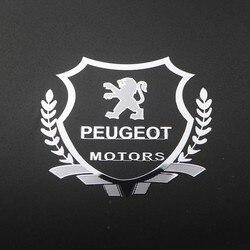 2 pçs excelente caso emblema adesivo do carro de metal 3d para peugeot 107 108 206 207 308 307 508 2008 3008 estilo do carro