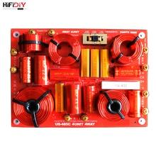 HIFIDIY canlı US 485C 4 yollu 4 hoparlör ünitesi (tweeter + Mid + bas + Sub) hiFi ev hoparlörler ses frekans bölücü Crossover filtreler