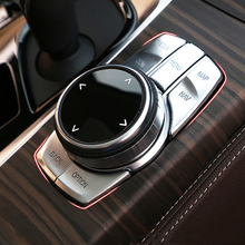 New 5 Series Chrome ABS For BMW G30 528 530 540Li 2018 2019 Car Interior Multimedia Button Cover Trim Idriver Sticker Protection 5pcs abs idrive media control button cover sticker trim for bmw 5 series g30 2017 decoration