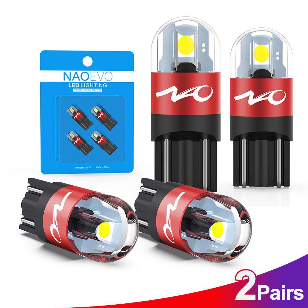 NAO W5W LED Auto T10 Birne 5W5 Auto Innen Licht 3030 SMD 12V 24V Autos Seite Signal Lampe 168 194 freiheit Beleuchtung Weiß
