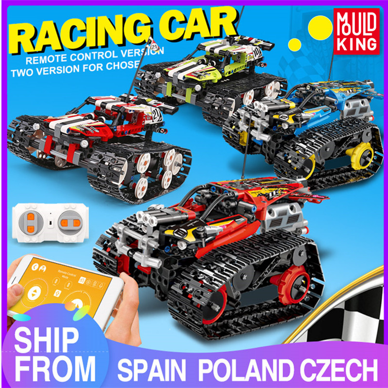 MOULD KING 13032 Technic RC APP Remote Control Car Bricks Tracked Racing Truck 42095 Building Blocks Kids Toys Birthday Gifts