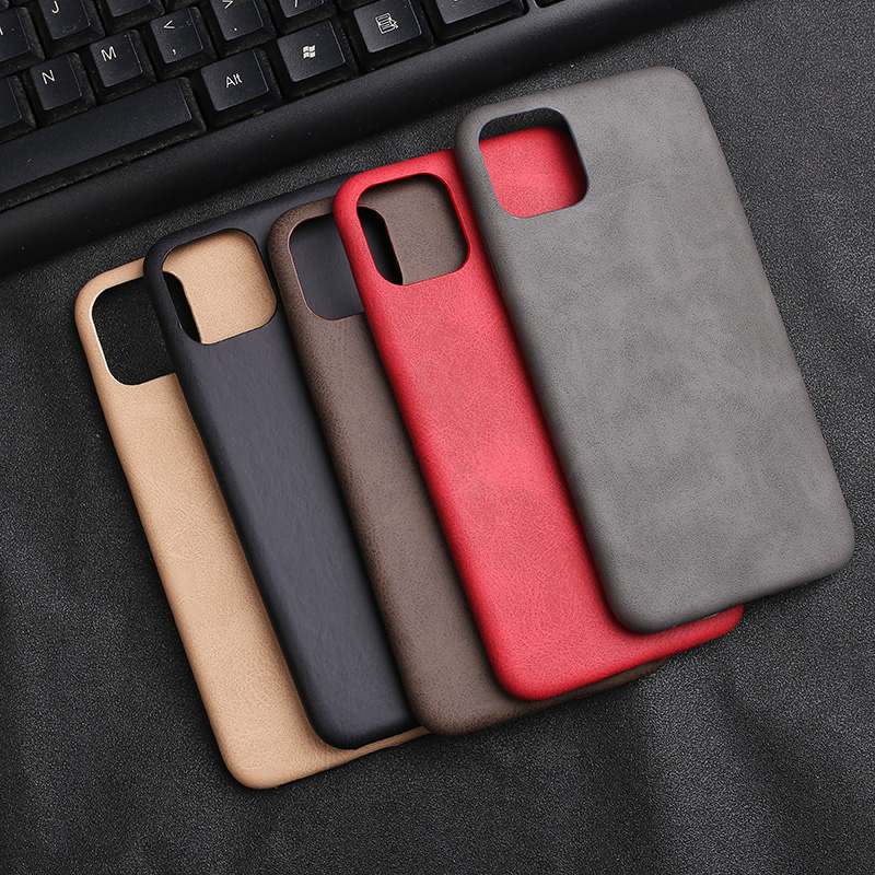for <font><b>Case</b></font> <font><b>iPhone</b></font> 11 Solid Color PU <font><b>Leather</b></font> Back Cover for <font><b>iPhone</b></font> 7 Plus 6 <font><b>6s</b></font> 8 XR Xs Max 11 Pro Etui for Men Soft Business <font><b>Cases</b></font> image