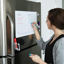 1PCS A5 Size Magnetic Whiteboard for Fridge Magnets Dry Wipe White Board Writing Record Water-based Pen Eraser