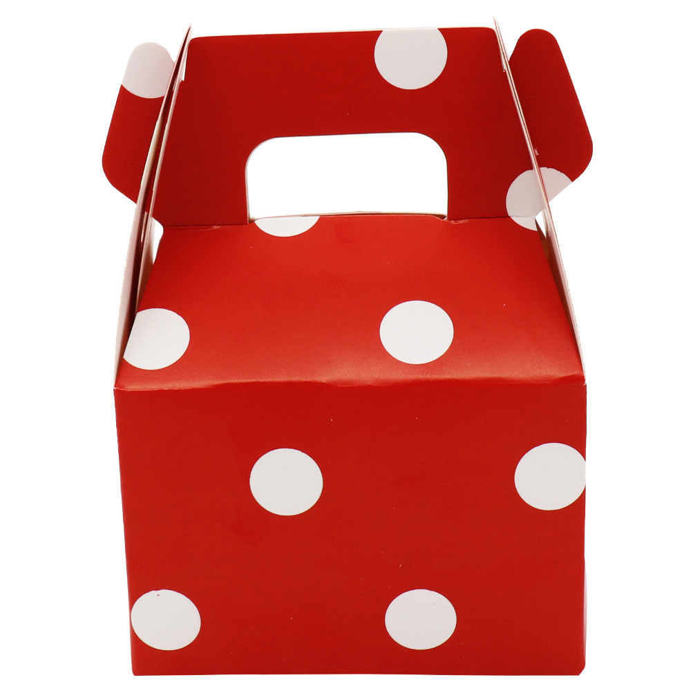 12pcs Polka Dot Stripes Candy Box Paper Candy Box Gift Bag Chocolate Packaging Children Birthday Party Wedding Decorations Favor