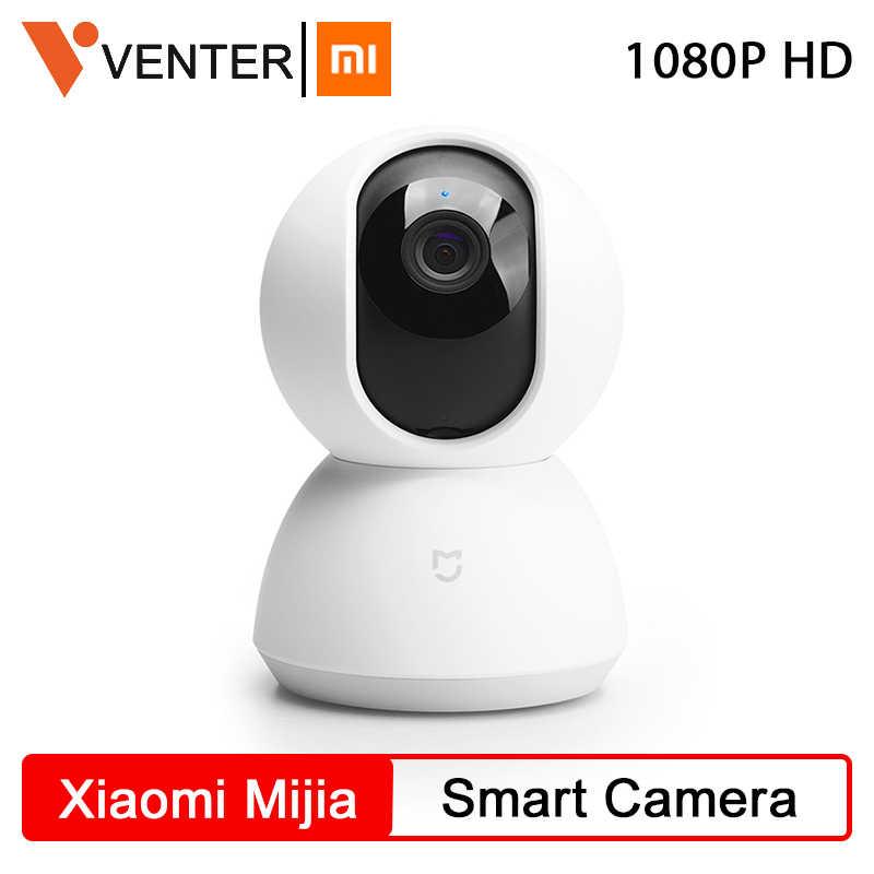 Versión Global Xiaomi Mijia Cámara inteligente mejorada 1080P HD WiFi Pan Tilt cámara de noche Webcam 360 ángulo CÁMARA DE SILENCIO inalámbrico