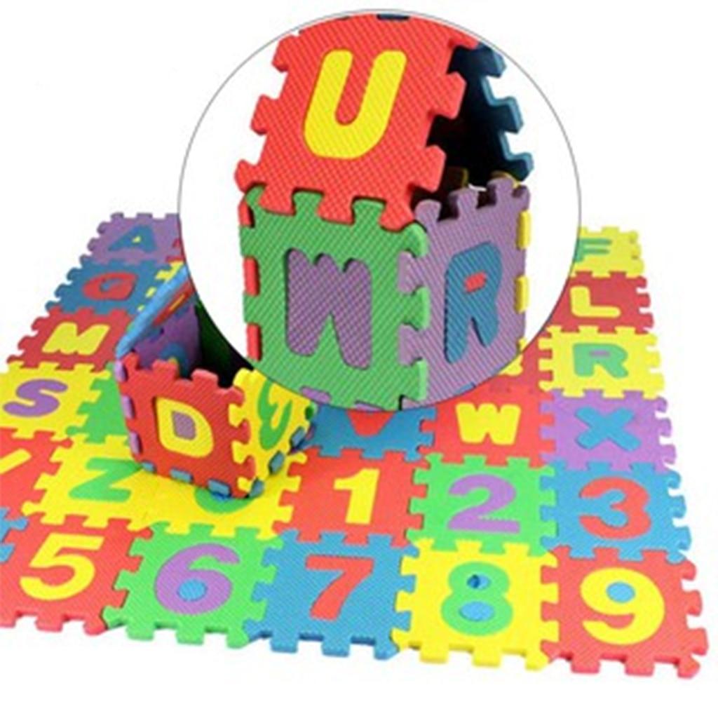 Kids Puzzle Exercise Play Mat with EVA Foam Interlocking Tiles Alphabet 36 Tiles