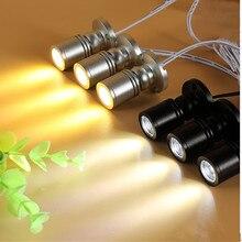 5 шт./лот RGB Светодиодный точечный светильник поверхность 3 Вт светодиодный точечный мини-светильник потолочный светильник с регулируемой яркостью шкаф лампа AC85-265V