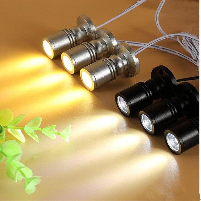 5pcs/lot RGB LED Spotlight Surface 3W Mini led spot light ceiling Down lighting Dimmable Cabinet  Lamp Closet bulb AC85 265V