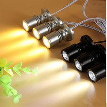 Mini lâmpada de led rgb, 5 pçs/lote, 3w, iluminação regulável, armário, roupeiro AC85 265V