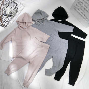 2020 Spring Baby Girls Clothes Boys Clothing Sets Autumn Sweater + Pants 2pcs Set Boys Knit Tracksuits Toddler Girls Boys Suit jxysy toddler kid baby girls clothing set ruffles floral top pleated pants spring autumn girls clothes children costumes