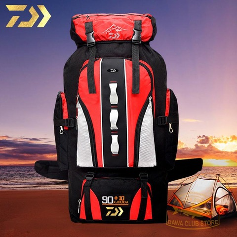 2019 daiwa pesca mochila 90l 10l pesca toolkit acampamento montanhismo saco de viagem ao ar