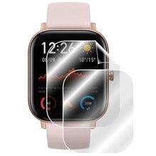 5 قطعة لينة بولي TPU واضح طبقة رقيقة واقية ل Amazfit GTS 1/2/Mini الرياضة ساعة ذكية GTS2 واقي للشاشة غطاء Smartwatch حماية
