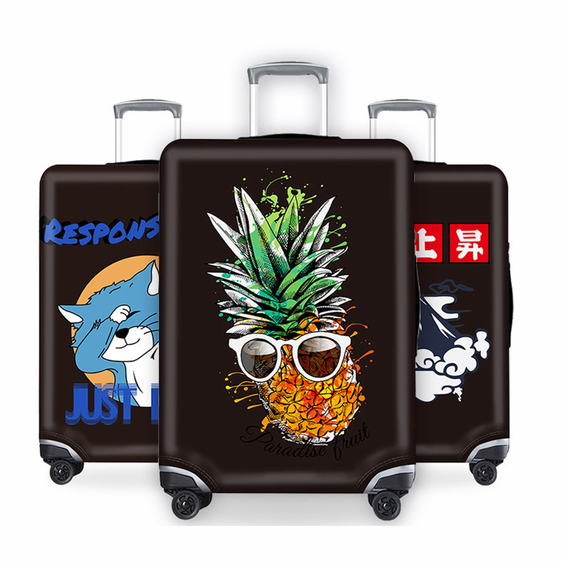 Travel Accessorie Creative 3D Kawaii Luggage Case Protective Cover Cartoon Waterproof Elastic XL Suitcase Cover Apply 18-32 Inch