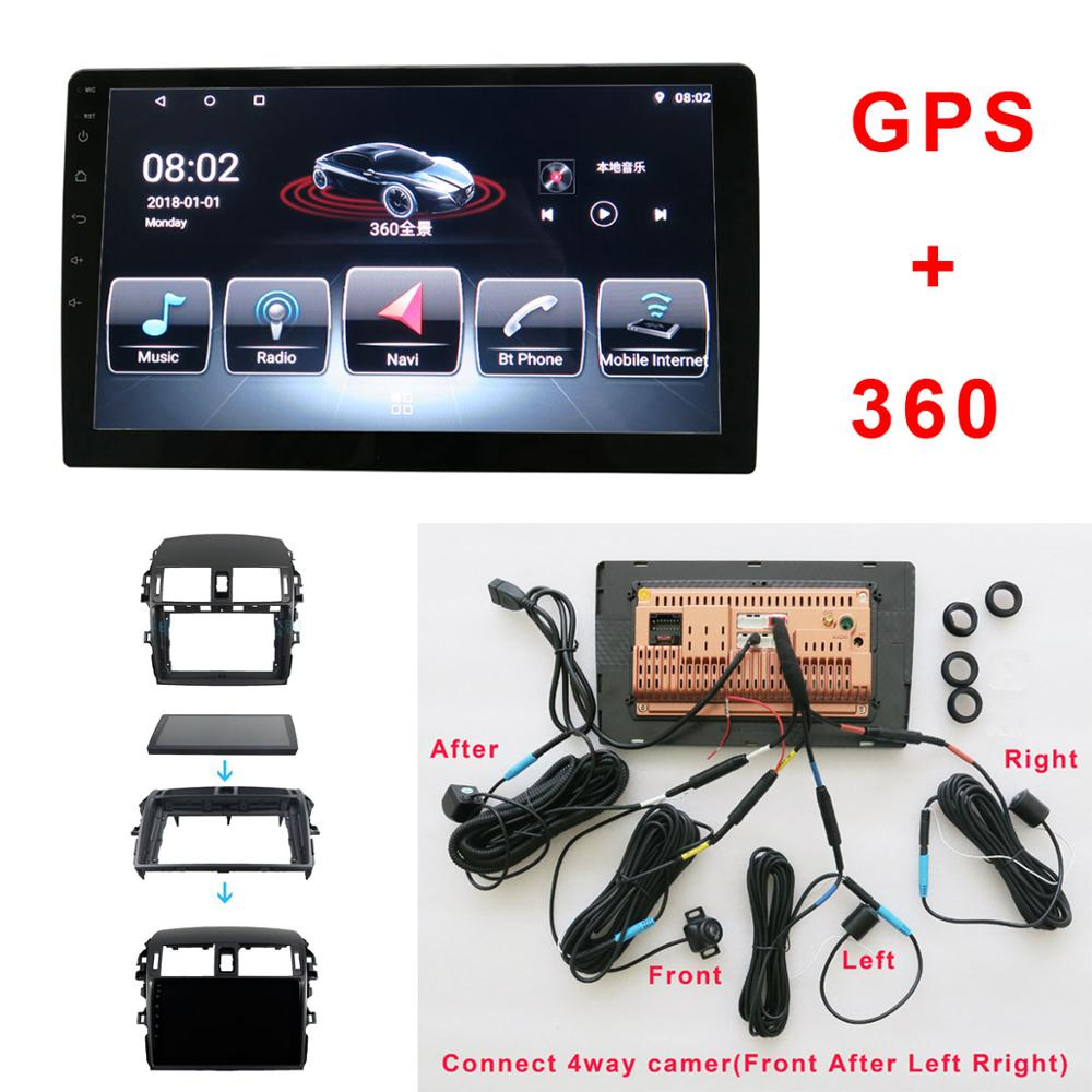 Android Car Multimedia and 360 degree Bird View Panoramic System for <font><b>TOYOTA</b></font> <font><b>Corolla</b></font> <font><b>E140/150</b></font> GPS BT Radio Wifi 4 way camera image