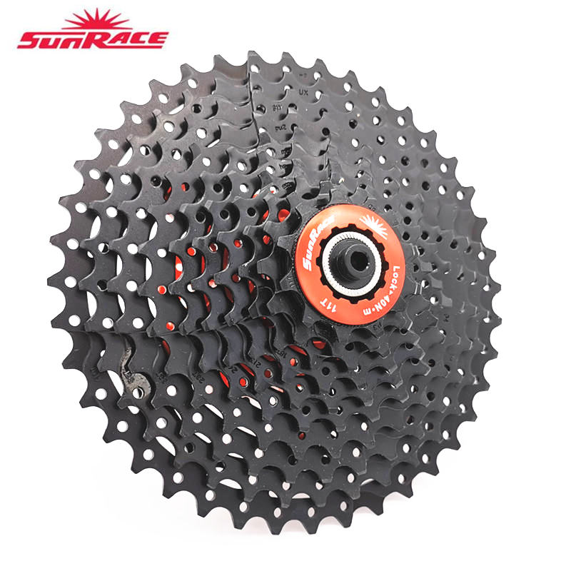 SunRace 10 Speed CSMX3 CSMS3 <font><b>11</b></font>-40T <font><b>11</b></font>-42T <font><b>11</b></font>-46T Bicycle Freewheel Wide Ratio bike Mountain Bicycle <font><b>Cassette</b></font> Tool MTB Flywheel image