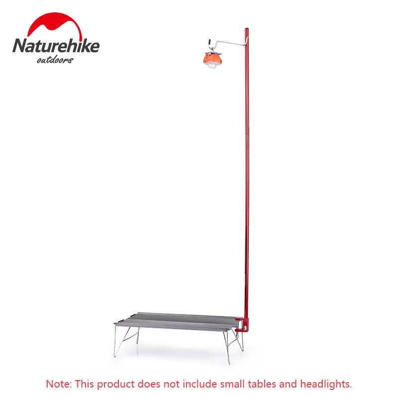 Naturehike al aire libre portátil lámpara plegable poste de aleación de aluminio senderismo tienda de campaña ultraligera linterna de fijación soporte de luz