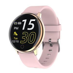 Image 4 - BELOONG Q16 w pełni z okrągłych sterowanie dotykowe ciśnienia krwi tętno fizjologiczne opaska monitorująca inteligentny zegarek fitness smart watch Q9 Q8