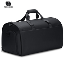 FRN New Men Multi-Function Large Capacity Travel Bag Suit Garment Luggage 17 Inch Laptop Waterproof Tote With Shoe Pouch