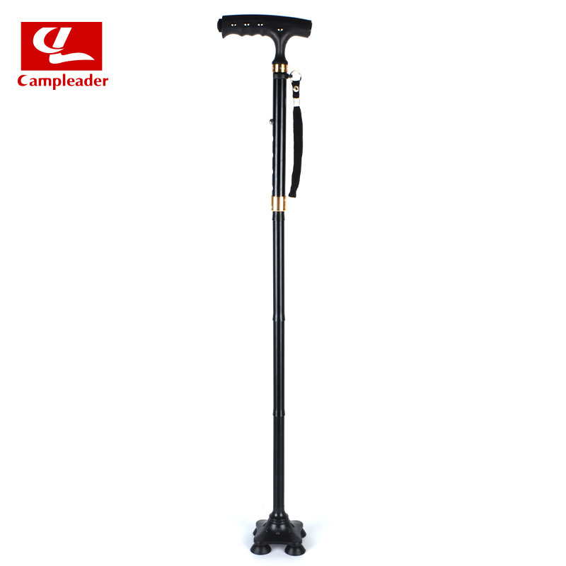Walking Stick For The Elderly Legs Collapsible Elderly Wand Aluminium Alloy Magnet Light Included Anti-slip Walking Stick Elderl