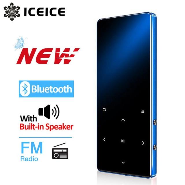 ICEICE Reproductor de MP3 con Bluetooth hifi sin pérdidas mini reproductor de música con radio fm auriculares, deporte MP 3 metal walkman dap