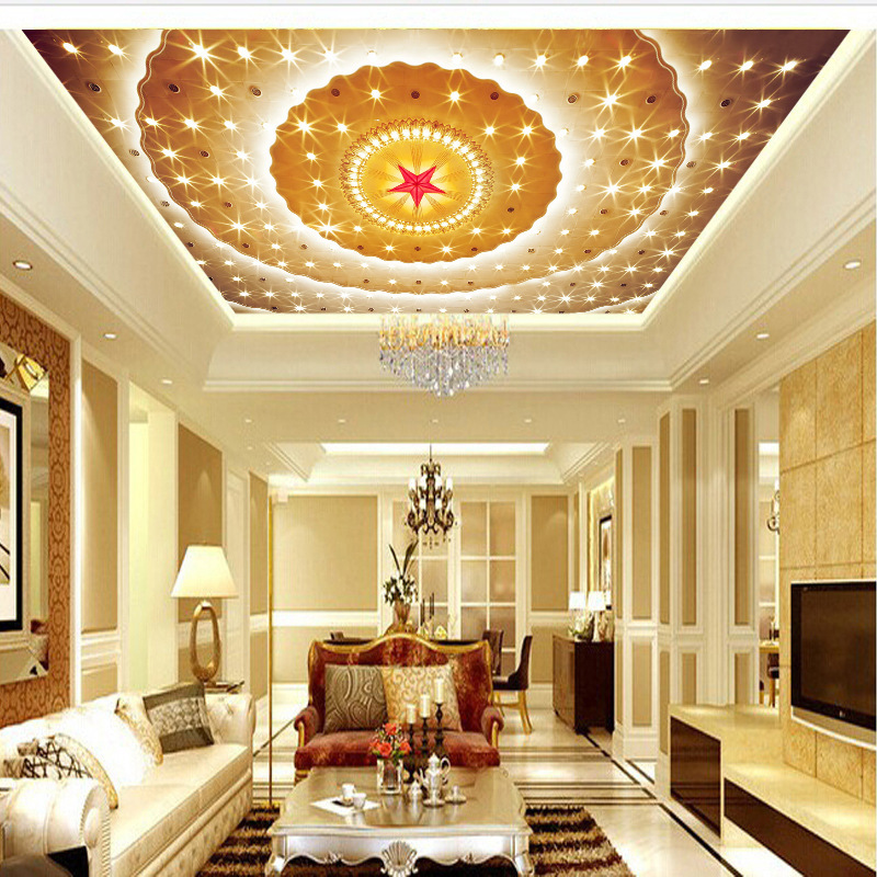 European Style Seamless 3D Large Mural Hotel Lobby Ceiling Wall Wallpaper KTV Engineering Wallpaper