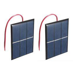 2 sztuk 1.5V 400mA 80x60mm mikro-Mini ogniwa słoneczne do paneli słonecznych-projektów typu