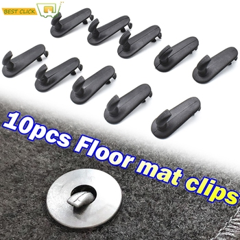 10pcs Car Floor Mat Clips Carpet Retainer Grip Holder Fixing Clamps Hooks Retention Fastener For Toyota Hilux Vios Avanza Innov image