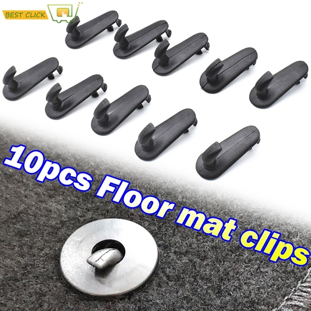 Clips de sol de voiture, 10 pièces, support de prise en main, pinces de fixation, crochets, fixation, pour Toyota Hilux Vios Avanza Innov