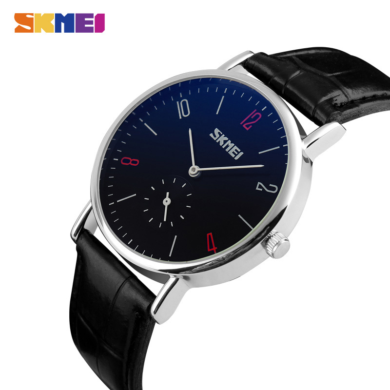 SKMEI Luxury Men Women Quartz Watch Relogio Masculino Feminino Leather Bracelet Lovers Wristwatch Female Male Clock 9120 New