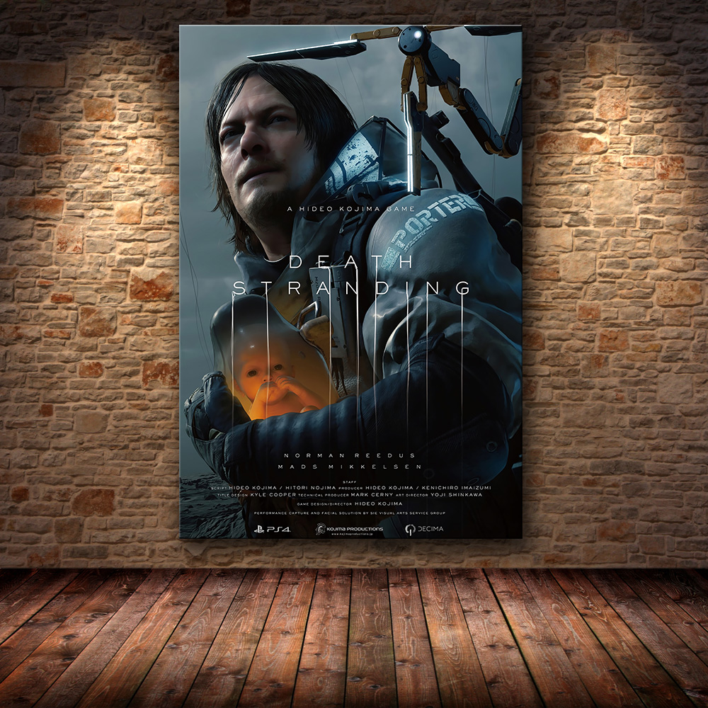 Unframed The Poster Decoration Painting Of Death Stranding On HD Canvas Painting Art Wall Pictures For Living Room Game Poster