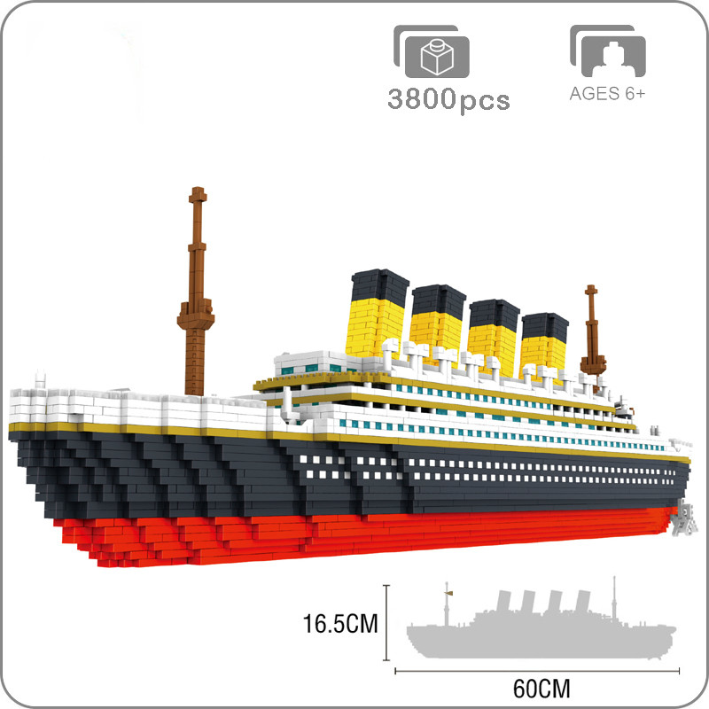 Mini Bricks Building-Blocks Ship-Model Cruise Titanic Adult Micro Toys Colllection Children
