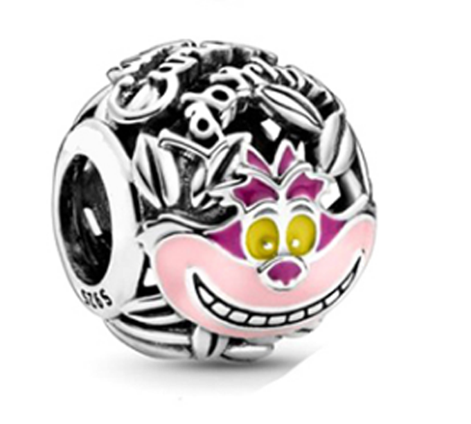 2020 New 925 Sterling Silver Beads Pink Enamel Openwork Round Charms Fit Original Pandora Bracelet Necklace Women DIY Jewelry