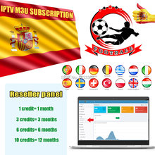 IPTV M3u subscription Reseller panel with 100 credits for Spain Portugal Dutch Sweden Israel UK Channels Best Stable server(China)