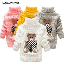 LCJMMO свитера для мальчиков; осенний Детский свитер с рисунком; джемпер; Зимний вязаный пуловер; свитера для девочек; теплая верхняя одежда с высоким воротником