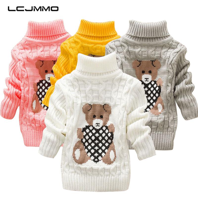 Children Kids Baby Boy Girls Sweater Knit Pullover Top Turtleneck Long Sleeves