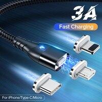 GETIHU 2m 3A cavo magnetico caricabatterie rapido Micro USB tipo C magnete cavo di ricarica per telefono cellulare per iPhone 12 11 Pro X Max 7 Xiaomi