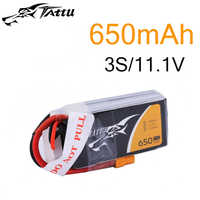 Tattu Lipo Batteria 11.1v 14.8v 650mAh 3S 4 4s 75C RC Batteria con XT30 Spina Batterie per 150 Dimensioni FPV Drone Telaio