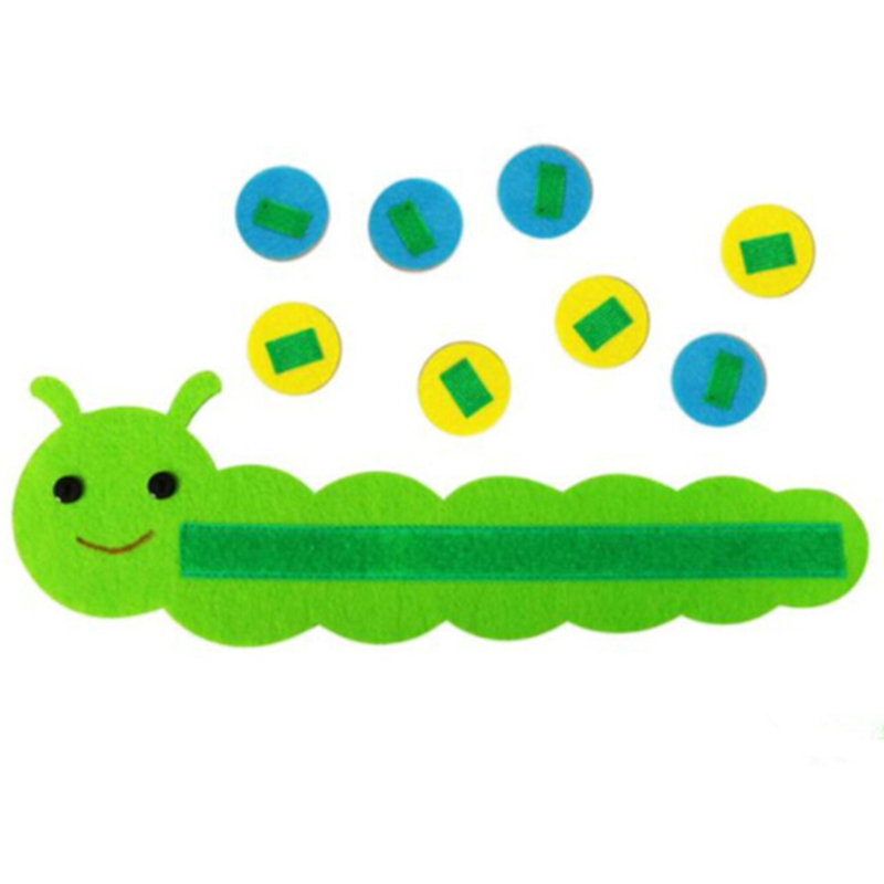 Colorful Sorting Caterpillar Preschool Kindergarten Teaching Aids Toy Educational Early Learning Montessori Mathematical Game