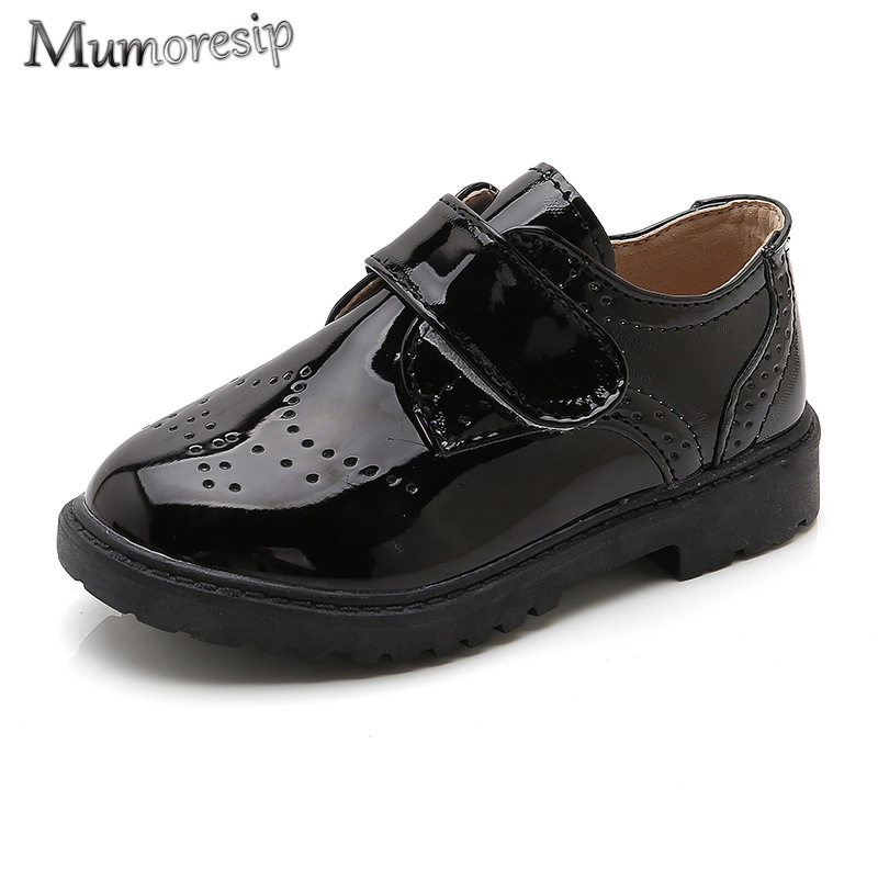 Mumoresip Spring Autumn New Hot Big Boys Shoes Kids Oxfords Shoes Children's Leather Shoes For Party Dancing Wedding Performance