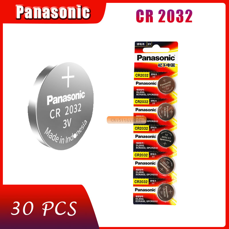30 X original brand new battery for PANASONIC cr2032 3v button cell coin batteries for watch computer cr 2032 batteries for watches coin ...