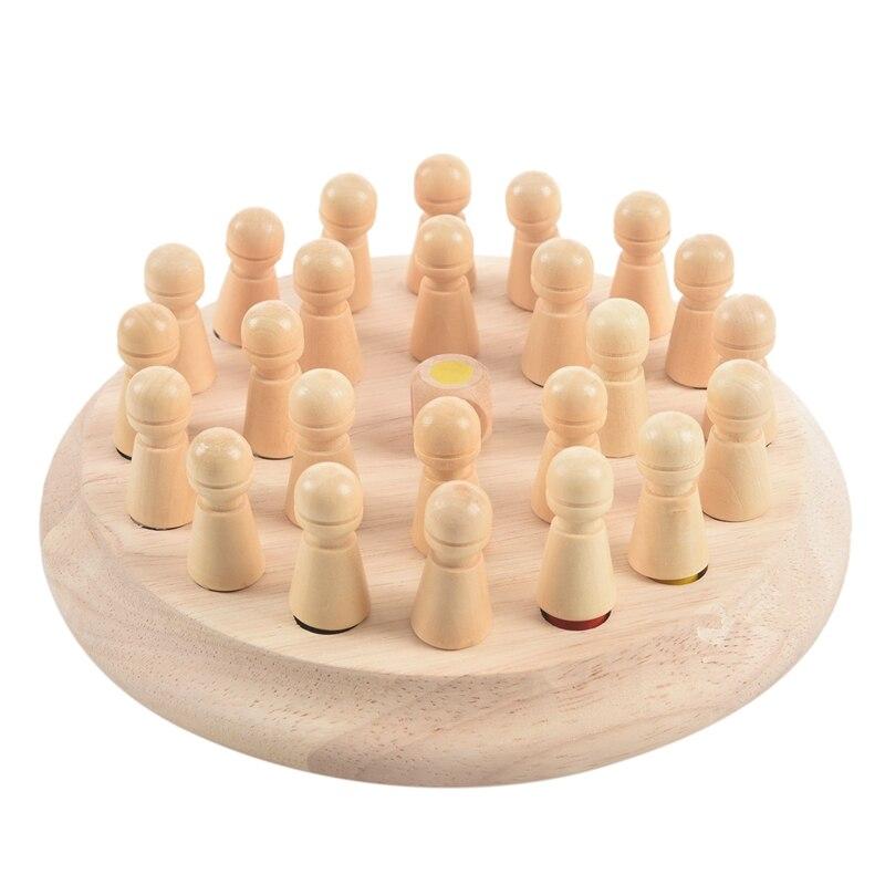 Conjunto de Madeira Jogo de Xadrez Jogo de Memória Festa da Família Vara Crianças Cedo Educacional 3d Quebra-cabeça Quebra-cabeças Jogo Casual 1 Mod. 313026