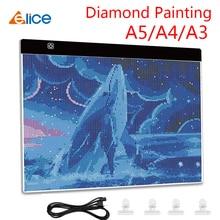 цена Elice LED Light Pad for diamond painting Artcraft Tracing Light Box Copy Board Digital Tablets Painting Writing Drawing Tablet онлайн в 2017 году
