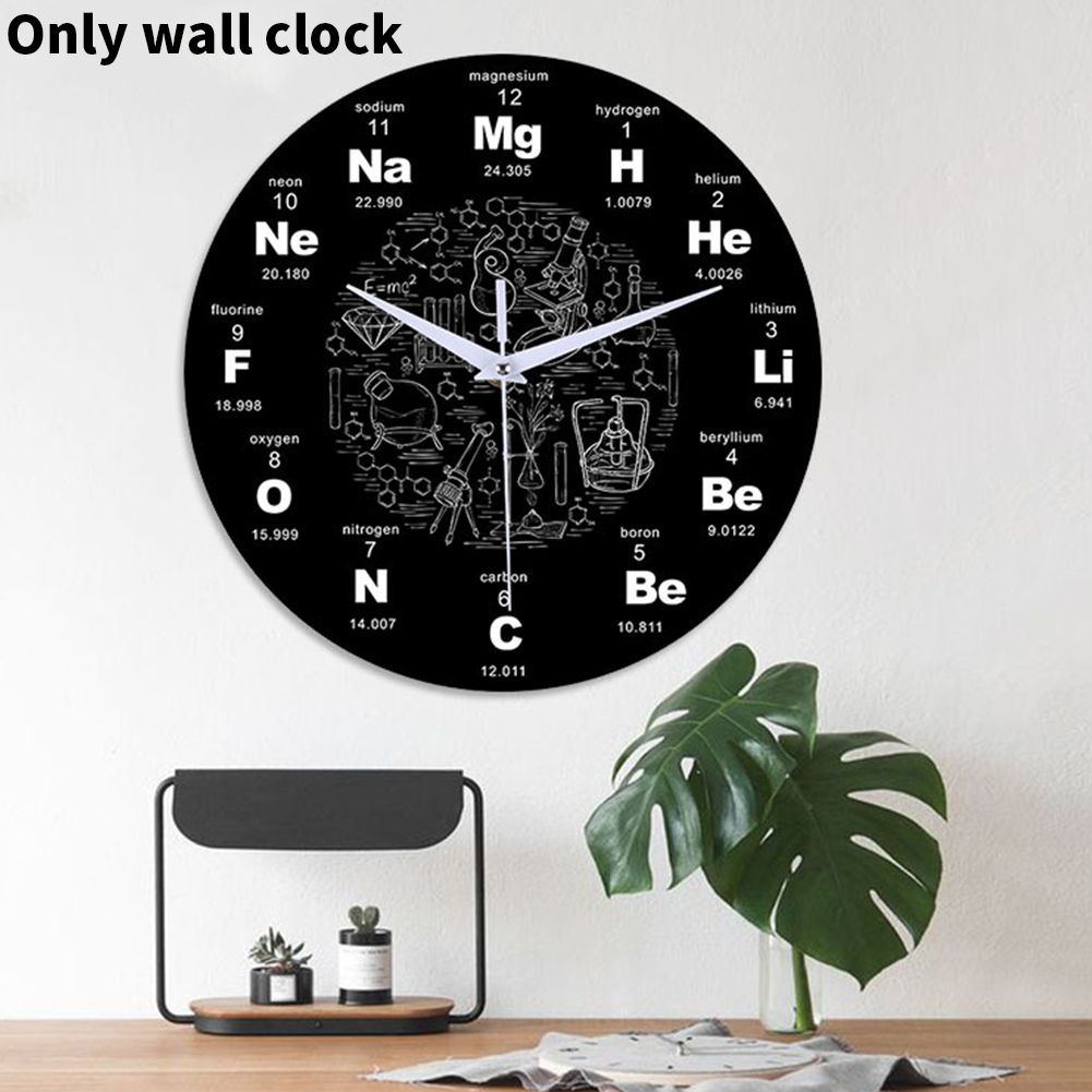 12 Inch Silent Bedroom Home Science Chemical Elements Gift Acrylic Wall Clock