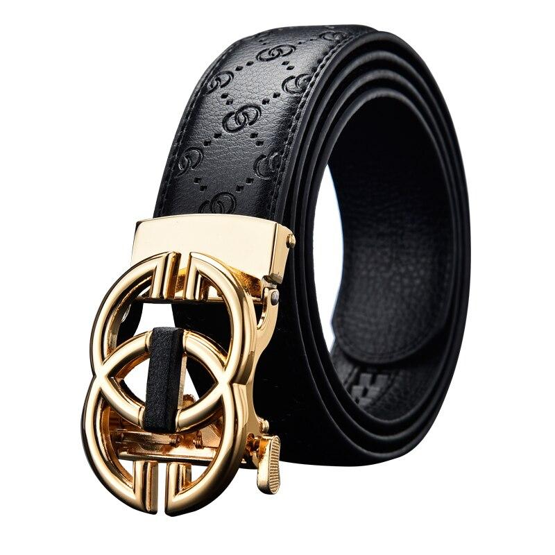 Anxianni High Quality Unisex Leather Belt, Business Casual Fashion Leather Belt, Men's Belt Men's Metal Automatic Buckle