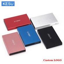 KESU disco rigido esterno LOGO personalizzato HDD USB2.0 60g 160g 250g 320g 500g 750g 1tb 2tb HDD Storage per PC Mac Tablet TV