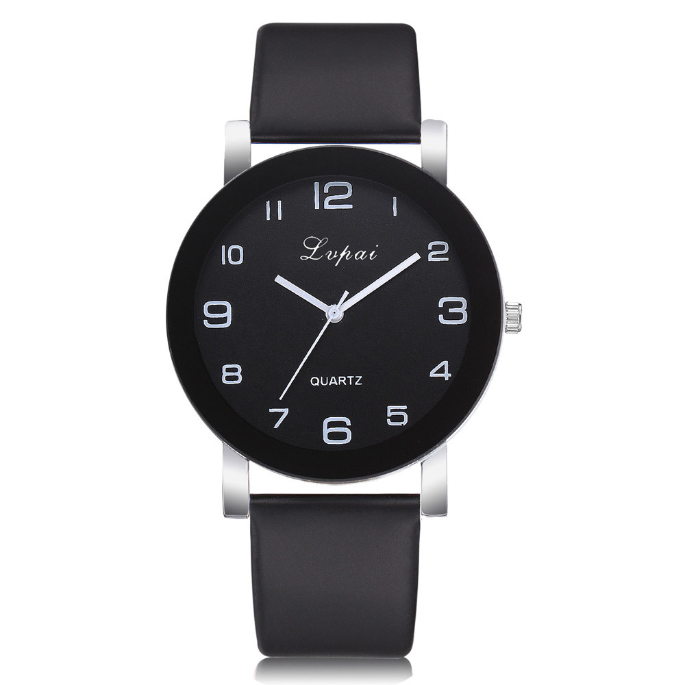 Wristwatch Clock Women's Leather-Band Quartz Casual Mujer Montre Inteligente Homme Analog title=
