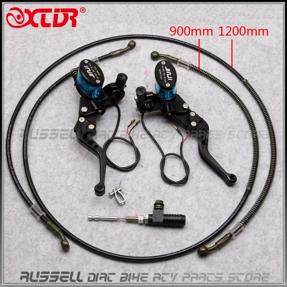 Гидравлический рычаг сцепления 1200 мм, мастер-цилиндр, вязанный Масляный шланг 110cc 125cc ~ 250cc Dirt Pit Bike Motorcycle