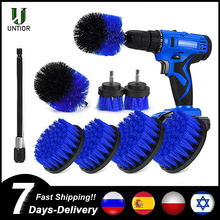 UNTIOR Power Scrubber Brush Set Car Polisher Bathroom Cleaning Kit Bathroom Kitchen Cleaning Tools Multi-purpose Drill brush Set