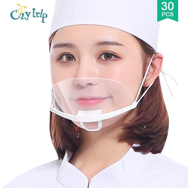 10/30pcs Sanitary Anti-droplet Face Mask Anti-fog Kitchen Restaurant Face Mask Salon Barber Shop Waitress Mask